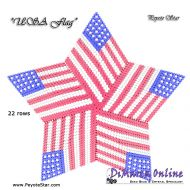 Tutorial USA Flag 3D Peyote Star + Basic Tutorial Little 3D Peyote Star (download link per e-mail)