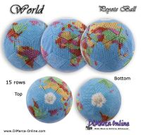 Tutorial 15 rows - World Peyote Ball incl. Basic Tutorial (download link per e-mail)