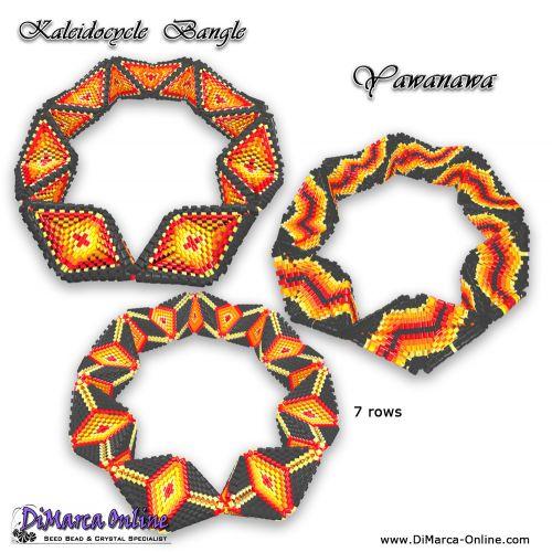 Tutorial Yawanawa Kaleidocycle Bangles 3 x incl. Basic Tutorial (download link per e-mail)