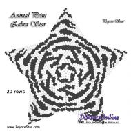 Tutorial Animal Print Zebra - 3D Peyote Star + Basic Tutorial Little 3D Peyote Star (download link per e-mail)