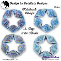 Tutorial A Day at the Beach Kaleidocycle Bangle incl. Basic Tutorial (download link per e-mail)