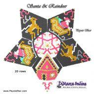 Tutorial Santa & Reindeer 3D Peyote Star + Basic Tutorial Little 3D Peyote Star (download link per e-mail)