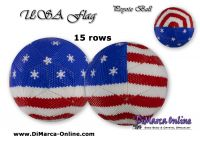 Tutorial 15 rows - USA Flag Peyote Ball incl. Basic Tutorial (download link per e-mail)