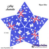 Tutorial Flag Australia 3D Peyote Star + Basic Tutorial Little 3D Peyote Star (download link per e-mail)