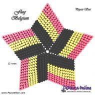 Tutorial Flag Belgium 3D Peyote Star + Basic Tutorial Little 3D Peyote Star (download link per e-mail)