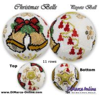 Tutorial 11 rows - Christmas Bells Peyote Ball incl. Basic Tutorial (download link per e-mail)