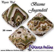 Tutorial Bicone Jugendstil 1, 2 & 3 - 3D Peyote Pods + Basic Tutorial (download link per e-mail) - 20 rows