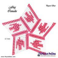 Tutorial Flag Canada 3D Peyote Star + Basic Tutorial Little 3D Peyote Star (download link per e-mail)