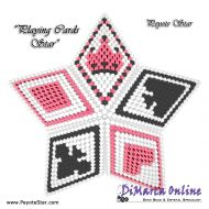 Tutorial Playing Cards 3D Peyote Star + Basic Tutorial Little 3D Peyote Star (download link per e-mail)