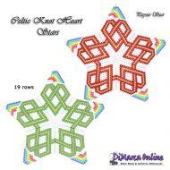 Tutorial Celtic Knot Heart 3D Peyote Star + Basic Tutorial Little 3D Peyote Star (download link per e-mail)