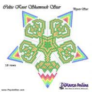 Tutorial Celtic Knot Shamrock 3D Peyote Star + Basic Tutorial Little 3D Peyote Star (download link per e-mail)