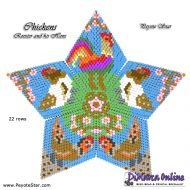 Tutorial Chickens - Rooster and his Hens - 3D Peyote Star + Basic Tutorial Little 3D Peyote Star (download link per e-mail)