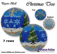 Tutorial 07 rows - Christmas Tree Peyote Ball incl. Basic Tutorial (download link per e-mail)