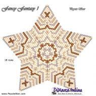 Tutorial Fancy Fantasy 1 - 3D Peyote Star + Basic Tutorial Little 3D Peyote Star (download link per e-mail)