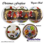 Tutorial 15 rows - Christmas Fireplace Peyote Ball incl. Basic Tutorial (download link per e-mail)