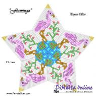 Tutorial Flamingo 3D Peyote Star + Basic Tutorial Little 3D Peyote Star (download link per e-mail)