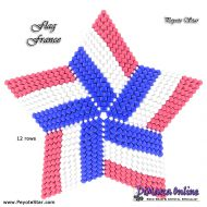 Tutorial Flag France 3D Peyote Star + Basic Tutorial Little 3D Peyote Star (download link per e-mail)