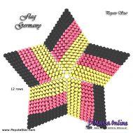 Tutorial Flag Germany 3D Peyote Star + Basic Tutorial Little 3D Peyote Star (download link per e-mail)