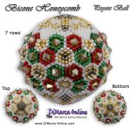 Tutorial 07 rows - Christmas Bicone Honeycomb Peyote Ball incl. Basic Tutorial (download link per e-mail)