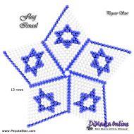 Tutorial Flag Israel 3D Peyote Star + Basic Tutorial Little 3D Peyote Star (download link per e-mail)
