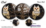 Tutorial 15 rows - Owl Peyote Ball incl. Basic Tutorial (download link per e-mail)
