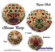 Tutorial 07 rows - Christmas Bicone Party Peyote Ball incl. Basic Tutorial (download link per e-mail)
