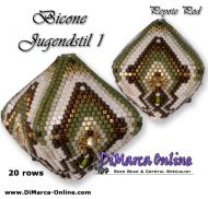 Tutorial Bicone Jugendstil 1 - 3D Peyote Pod + Basic Tutorial Little 3D Peyote Pod (download link per e-mail) - 20 rows