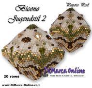 Tutorial Bicone Jugendstil 2 - 3D Peyote Pod + Basic Tutorial Little 3D Peyote Pod (download link per e-mail) - 20 rows