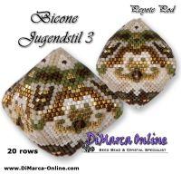 Tutorial Bicone Jugendstil 3 - 3D Peyote Pod + Basic Tutorial Little 3D Peyote Pod (download link per e-mail) - 20 rows