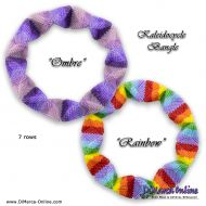 Tutorial Rainbow + Ombre Kaleidocycle Bangle incl. Basic Tutorial (download link per e-mail)