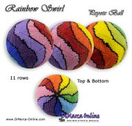Tutorial 11 rows - Rainbow Swirl Peyote Ball incl. Basic Tutorial (download link per e-mail)