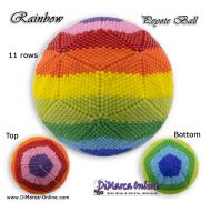 Tutorial 11 rows - Rainbow Peyote Ball incl. Basic Tutorial (download link per e-mail)
