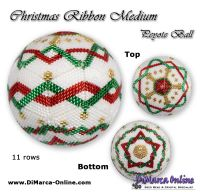 Tutorial 11 rows - Christmas Ribbon Medium Peyote Ball incl. Basic Tutorial (download link per e-mail)