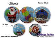 Tutorial 15 rows - Santa Peyote Ball incl. Basic Tutorial (download link per e-mail)