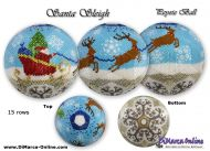 Tutorial 15 rows - Santa Sleigh Peyote Ball incl. Basic Tutorial (download link per e-mail)
