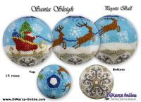 Tutorial 15 rows - Santa Sleigh Peyote Ball incl. Basic Tutorial (download link per e-mail)
