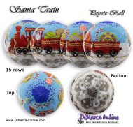 Tutorial 15 rows - Santa Train Peyote Ball incl. Basic Tutorial (download link per e-mail)
