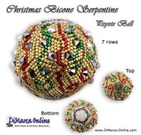 Tutorial 07 rows - Christmas Bicone Serpentine Peyote Ball incl. Basic Tutorial (download link per e-mail)