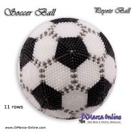 Tutorial 11 rows - Soccer Peyote Ball incl. Basic Tutorial (download link per e-mail)