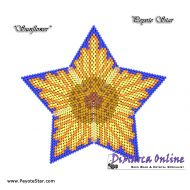 FREE TUTORIAL 18 rows - Sunflower 3D Peyote Star (download link per e-mail)