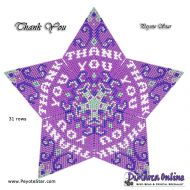 Tutorial Thank You 3D Peyote Star + Basic Tutorial Little 3D Peyote Star (download link per e-mail)