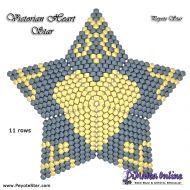 Tutorial Victorian Heart - 3D Peyote Star + Basic Tutorial Little 3D Peyote Star (download link per e-mail)