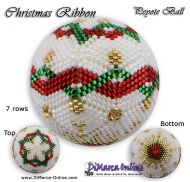 Tutorial 07 rows - Christmas Ribbon Peyote Ball incl. Basic Tutorial (download link per e-mail)
