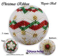 Tutorial 07 rows - Christmas Ribbon Peyote Ball incl. Basic Tutorial (download link per e-mail)