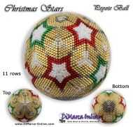 Tutorial 11 rows - Christmas Stars Peyote Ball incl. Basic Tutorial (download link per e-mail)