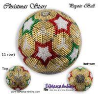 Tutorial 11 rows - Christmas Stars Peyote Ball incl. Basic Tutorial (download link per e-mail)
