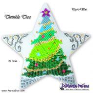 Tutorial Twinkle Tree 3D Peyote Star + Basic Tutorial Little 3D Peyote Star