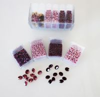 Mos-PR Purple/Rose Shiny Mosaic Bead & Chaton Pack - Akke Jonkhof