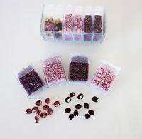 Mos-PR Purple/Rose Shiny Mosaic Bead & Chaton Pack - Akke Jonkhof