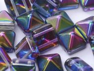 PYR-00030/95100 Magic Blueberry Pyramid Bead Studs - 20 x